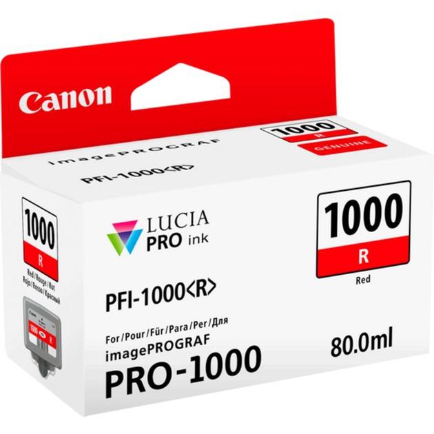 PFI-1000 R 80ml Rouge cartouche d'encre