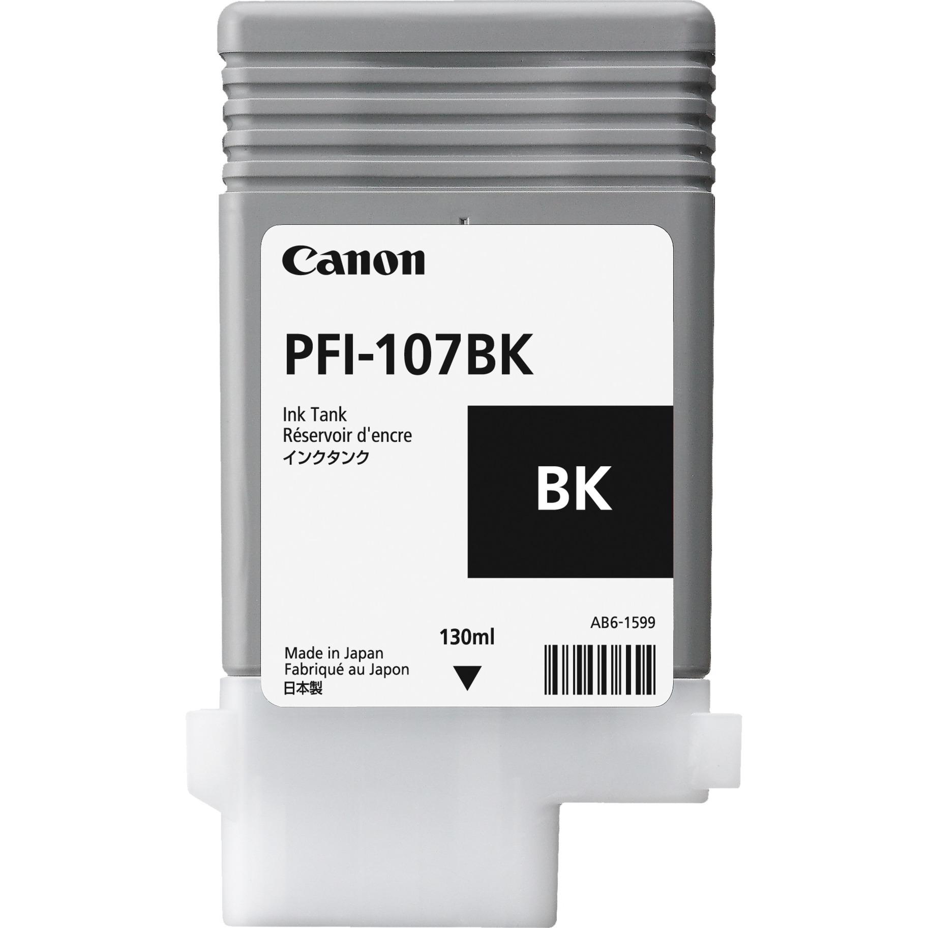 PFI-107BK Noir cartouche d'encre