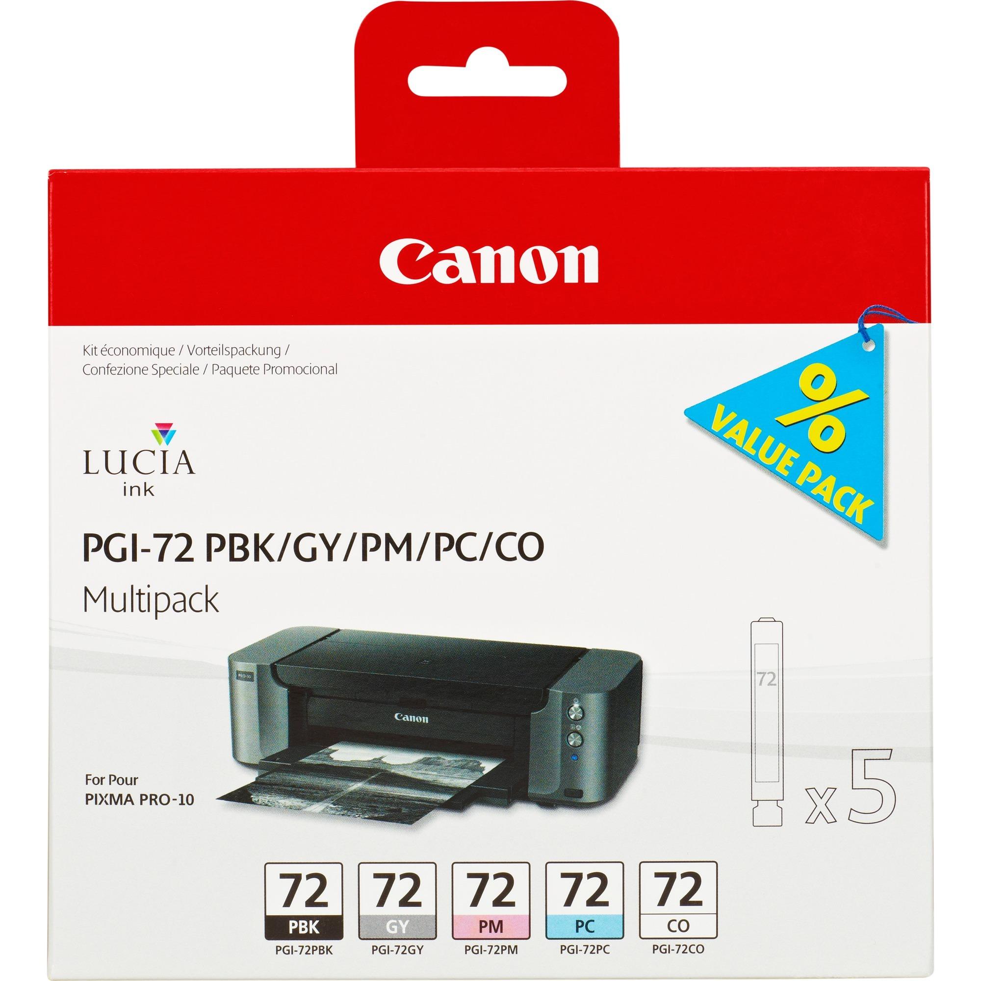 PGI-72 PBK/GY/PM/PC/CO Gris, Photo noire, Photo cyan, Photo magenta cartouche d'encre