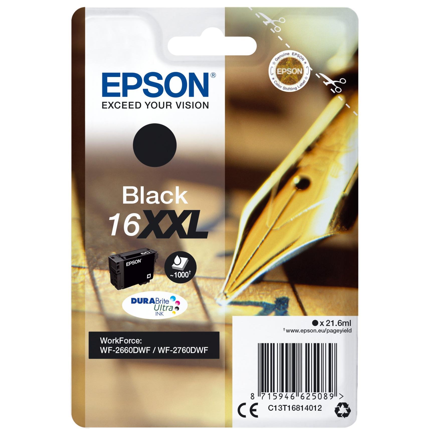 C13T16814012 21.6ml 1000pages Noir cartouche d'encre