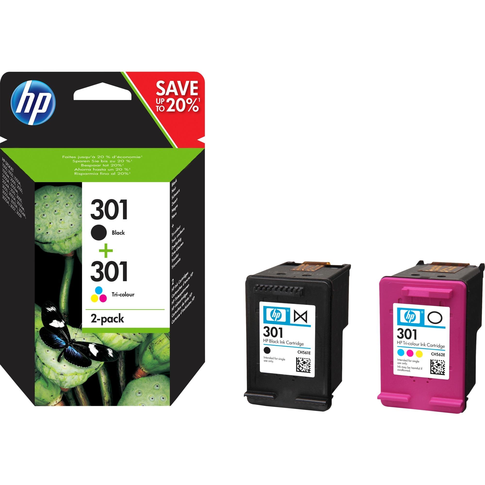 301 pack de 2 cartouches d'encre noir/trois couleurs authentiques