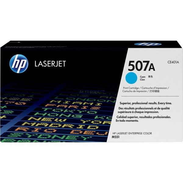 507A toner LaserJet cyan authentique