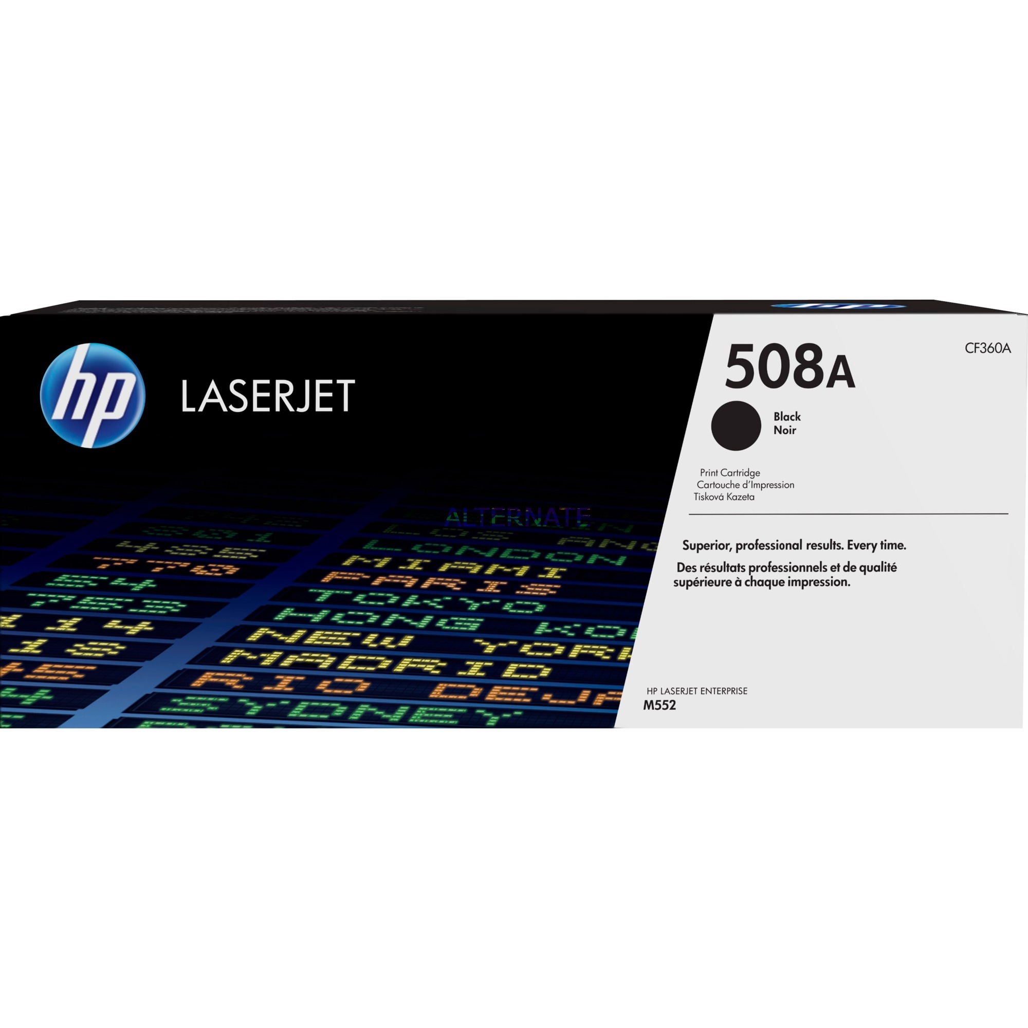 508A toner LaserJet Noir authentique