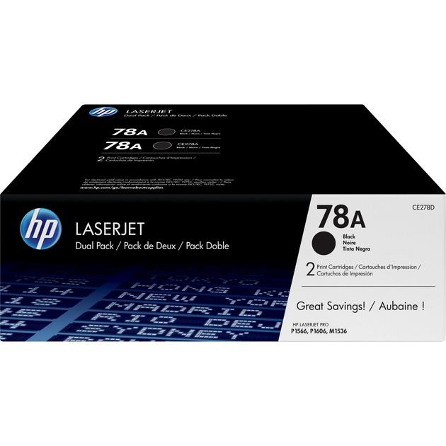 78A pack de 2 toners LaserJet noir authentiques