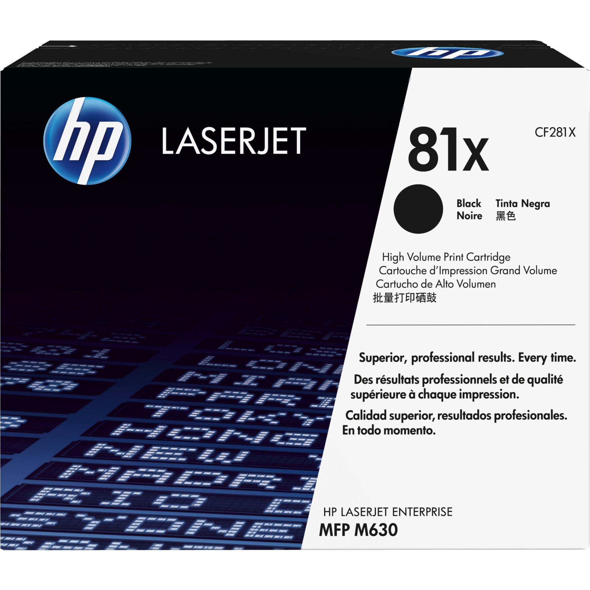 81X toner LaserJet noir authentique grande capacité