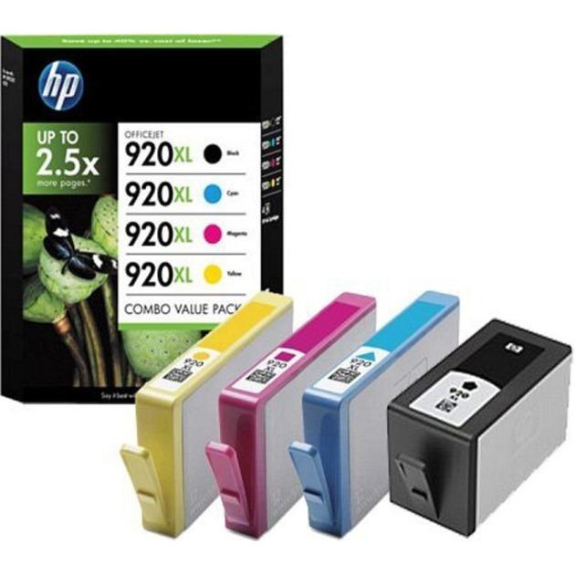 920XL pack de 4 cartouches d'encre noir/cyan/magenta/jaune grande capacité authentiques