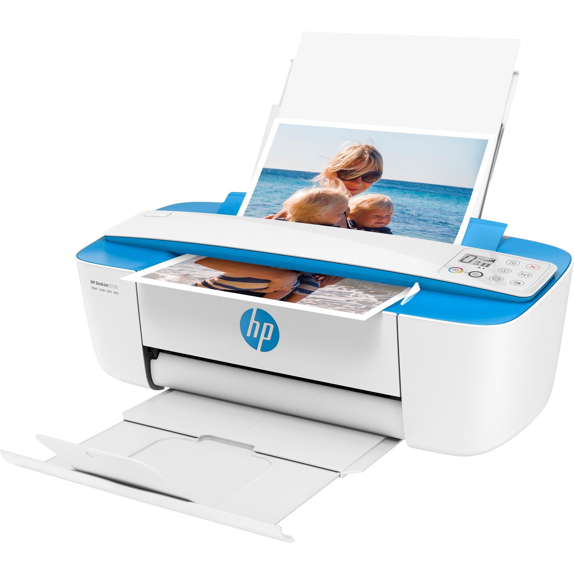 DeskJet 3720 AiO 4800 x 1200DPI A jet d'encre thermique A4 8ppm Wifi, Imprimante multifonction