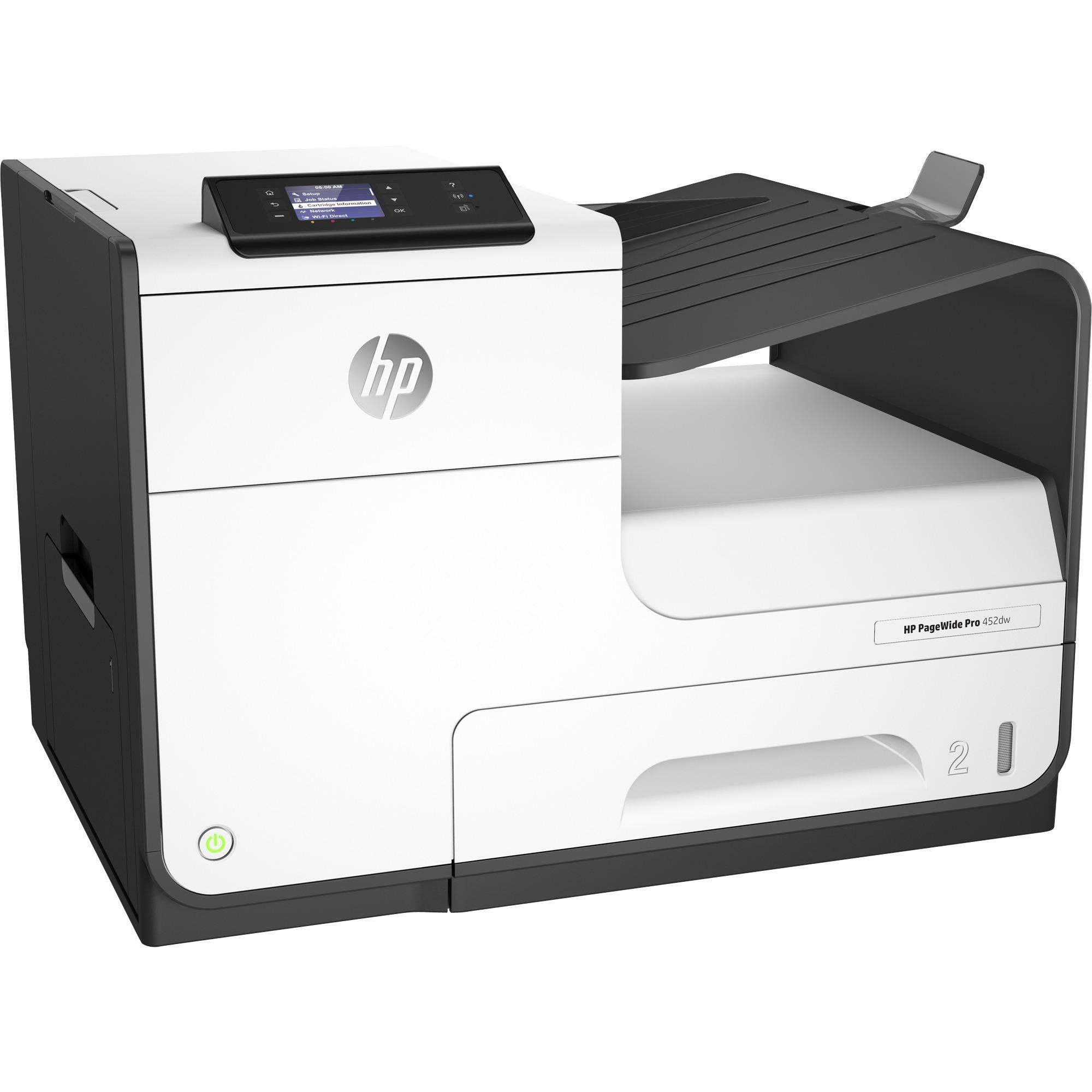 Imprimante PageWide Pro 452dwt et bac, Imprimante jet d'encre