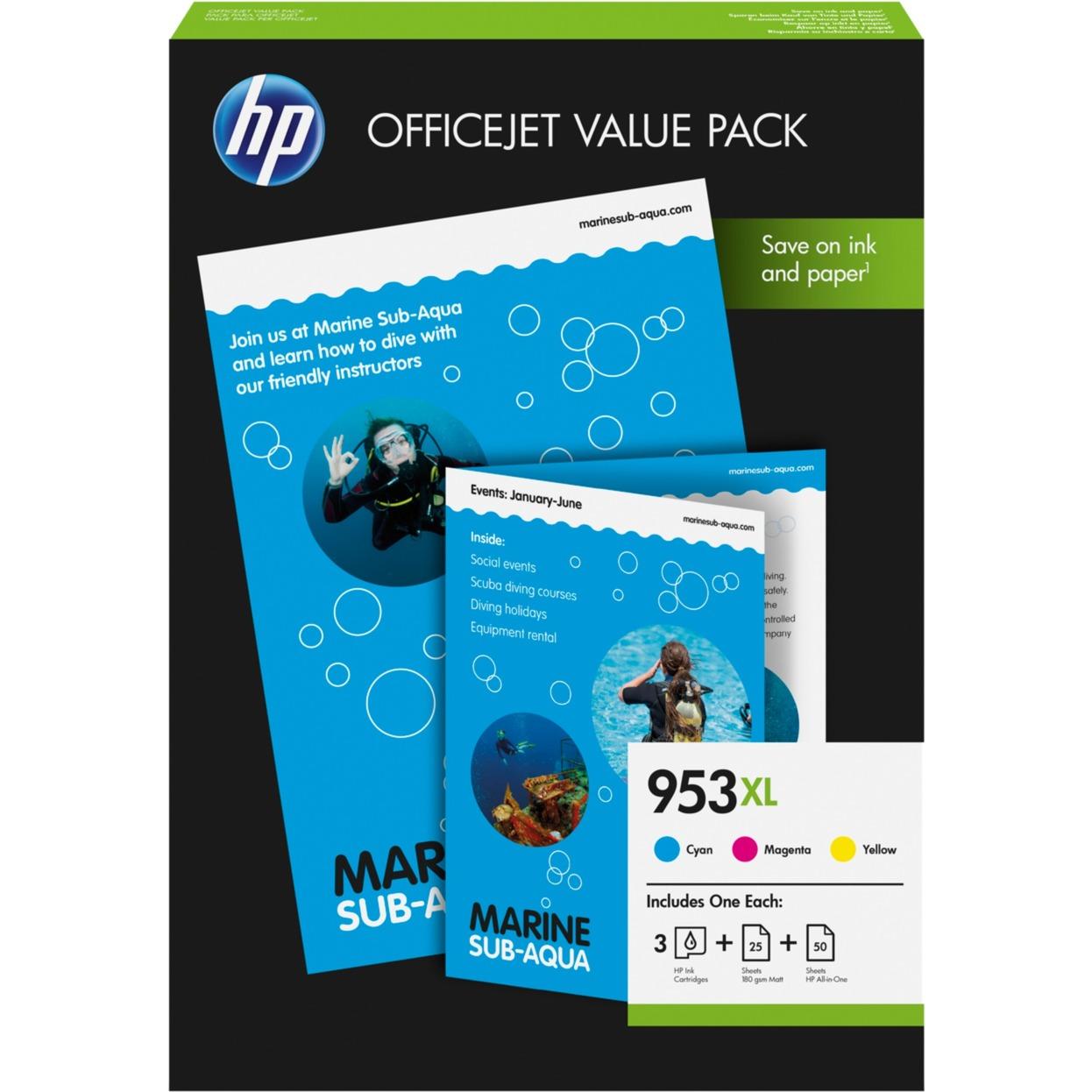 Pack économique 953XL Office - 75 feuilles/A4/210 x 297 mm, Encre