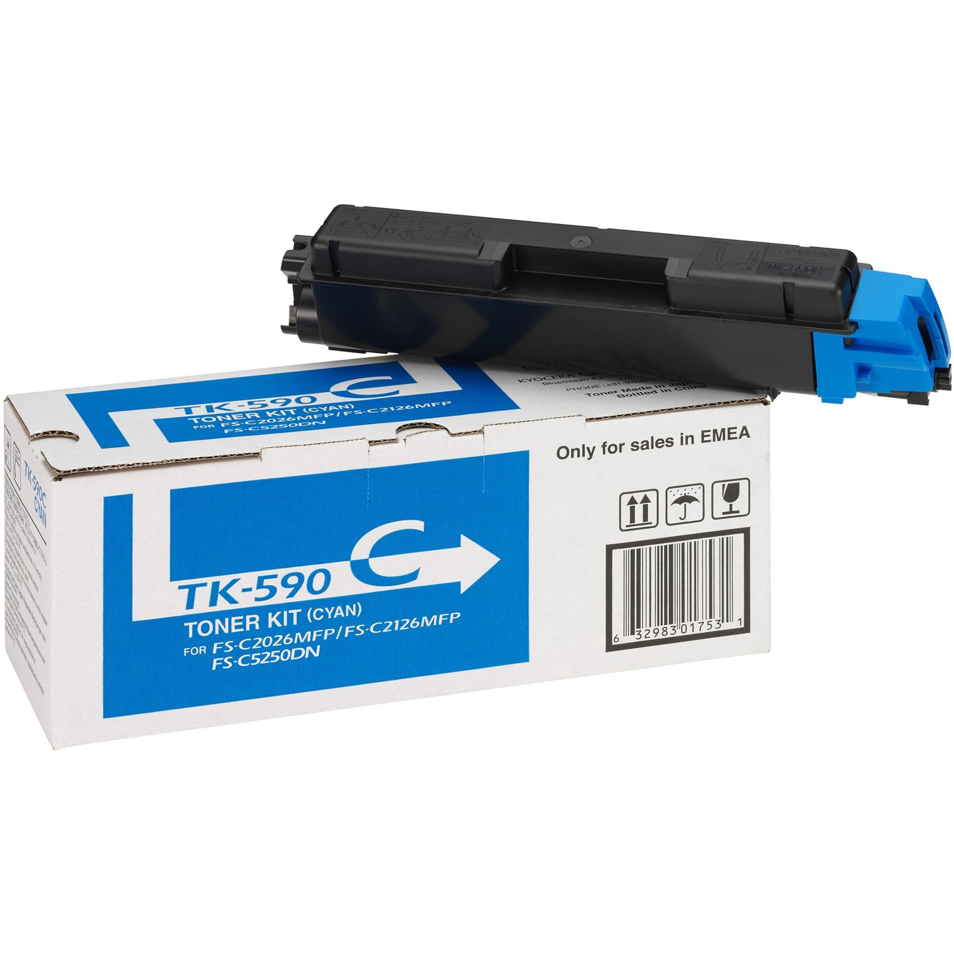 1T02KVCNL0 500pages Cyan cartouche toner et laser