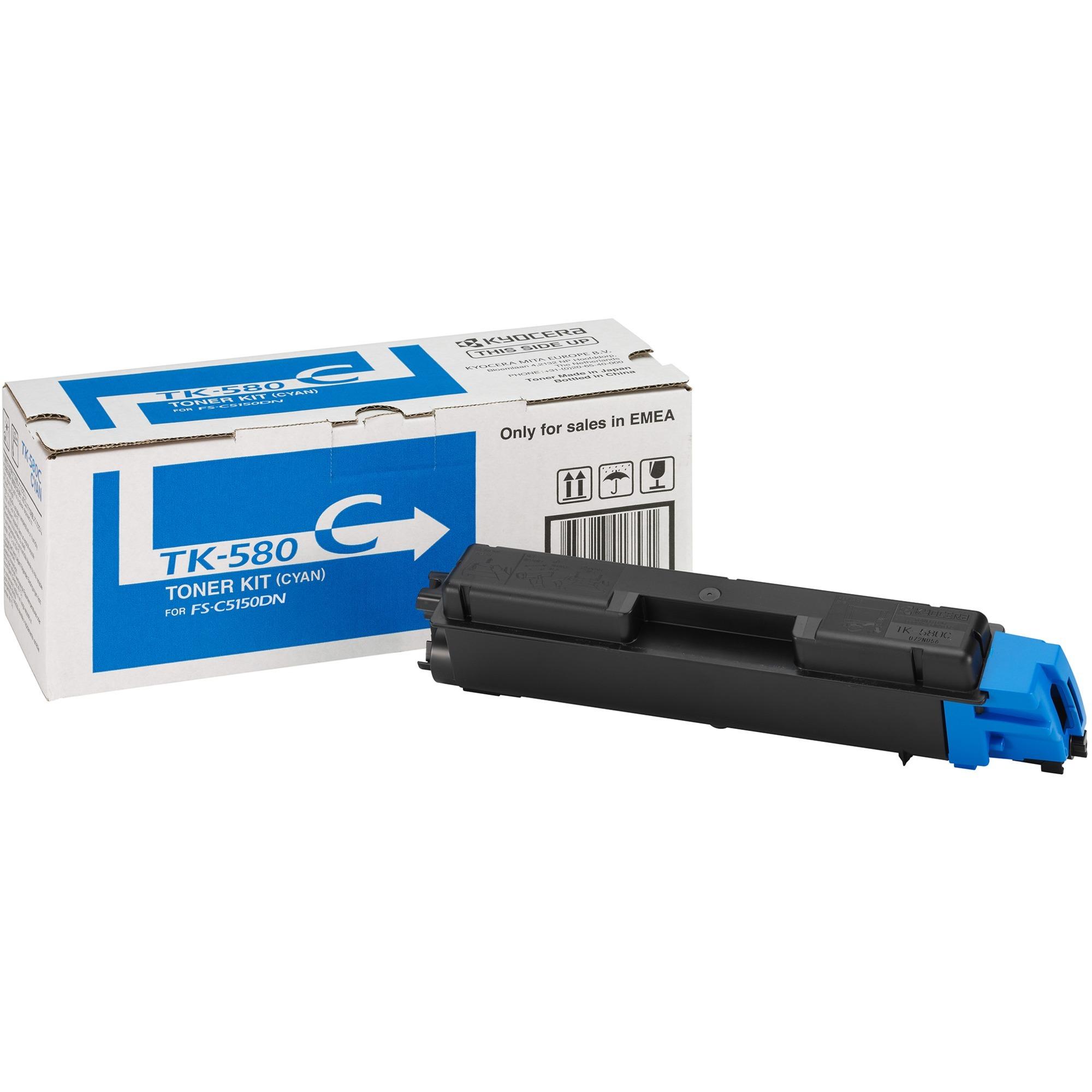 TK-580C Toner laser 2800pages Cyan