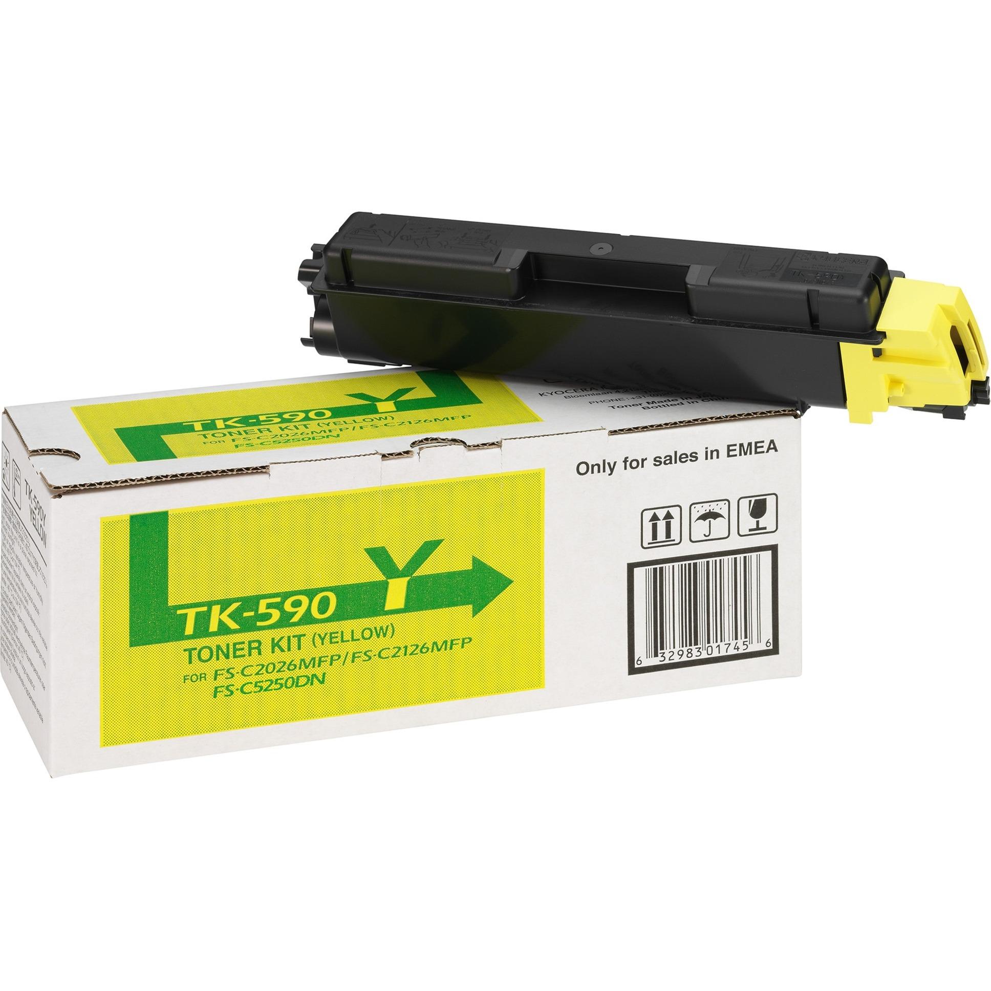 TK-590Y Cartouche laser 5000pages Jaune, Toner