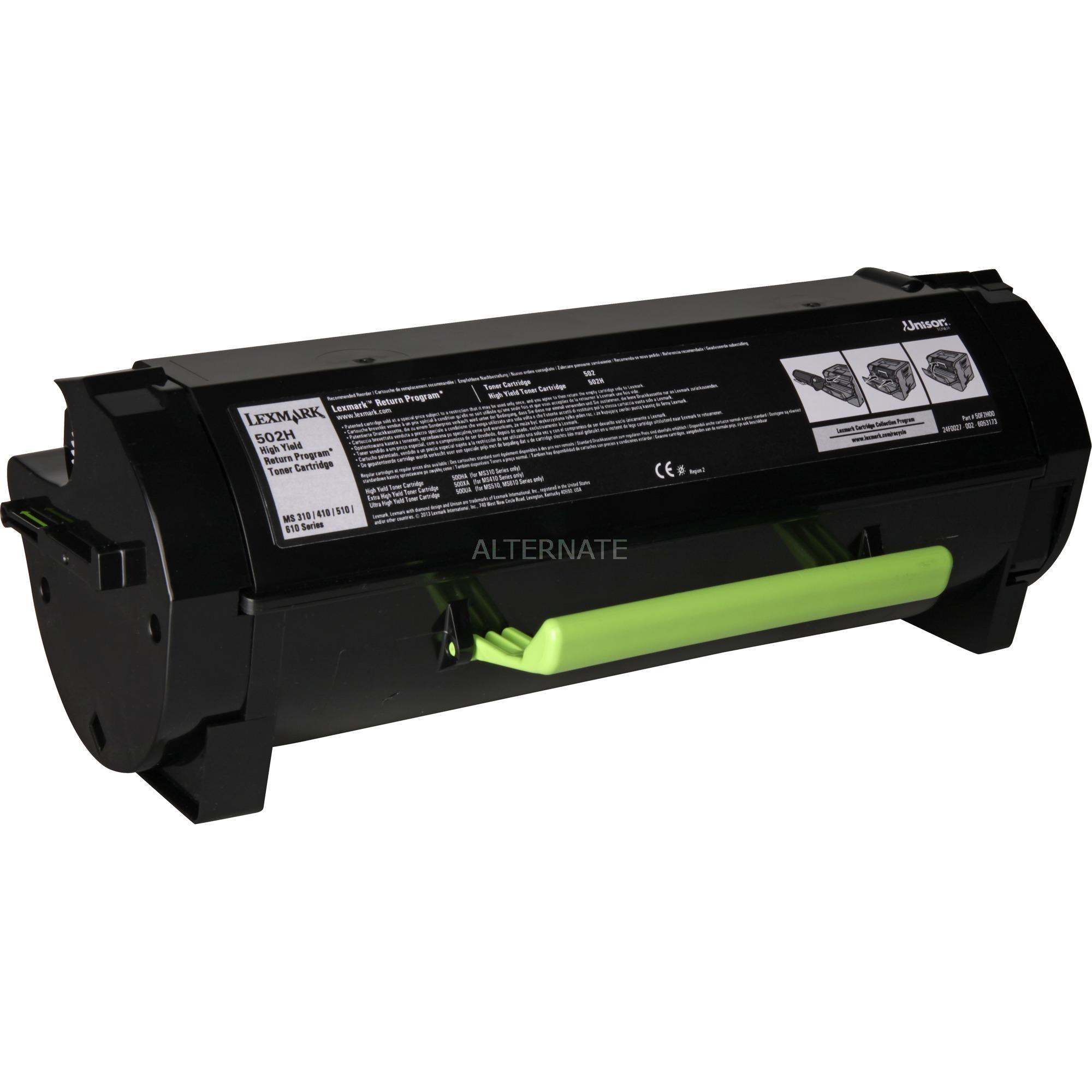 502H R Cartouche laser 5000pages Noir, Toner