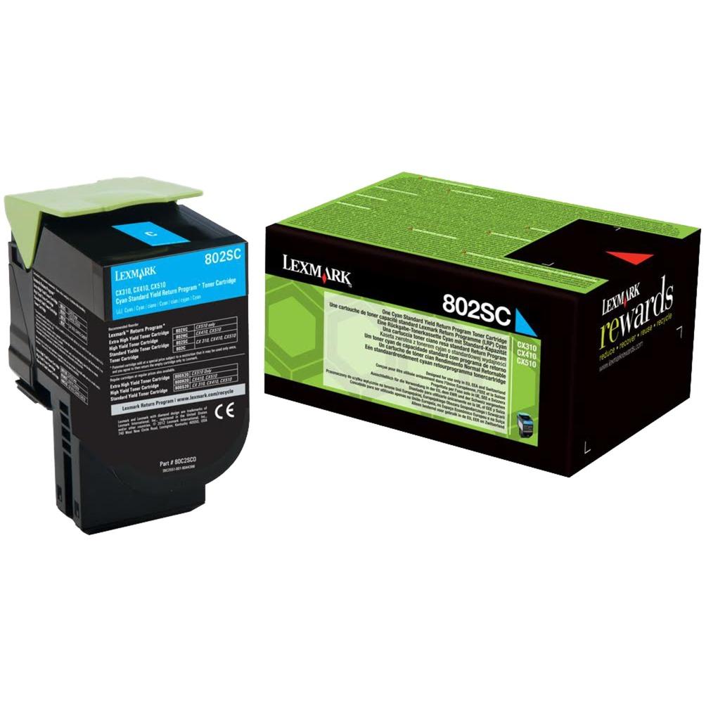 802SC Cartouche laser 2000pages Cyan, Toner