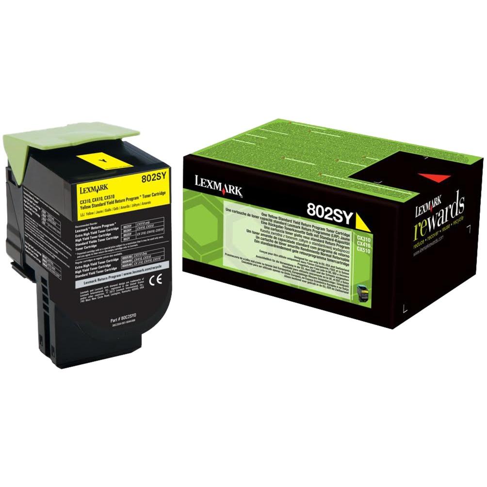 802SY Cartouche laser 2000pages Jaune, Toner