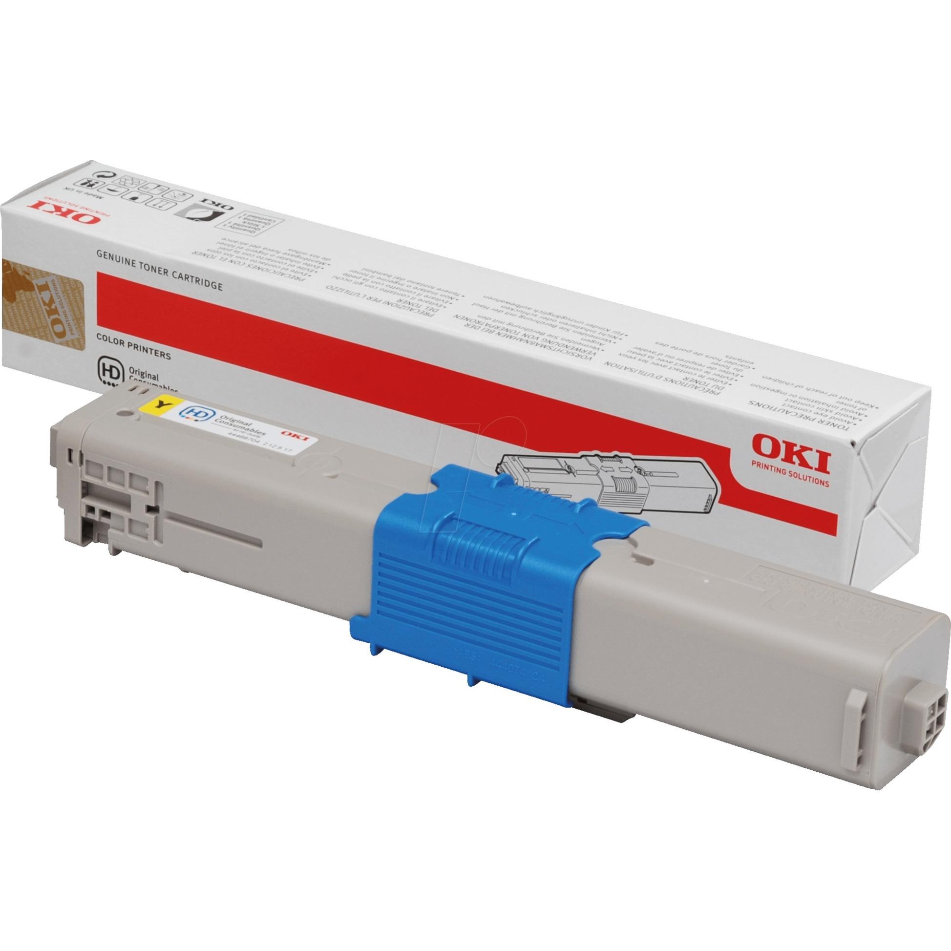 44469704 Toner laser 2000pages Jaune cartouche toner et laser