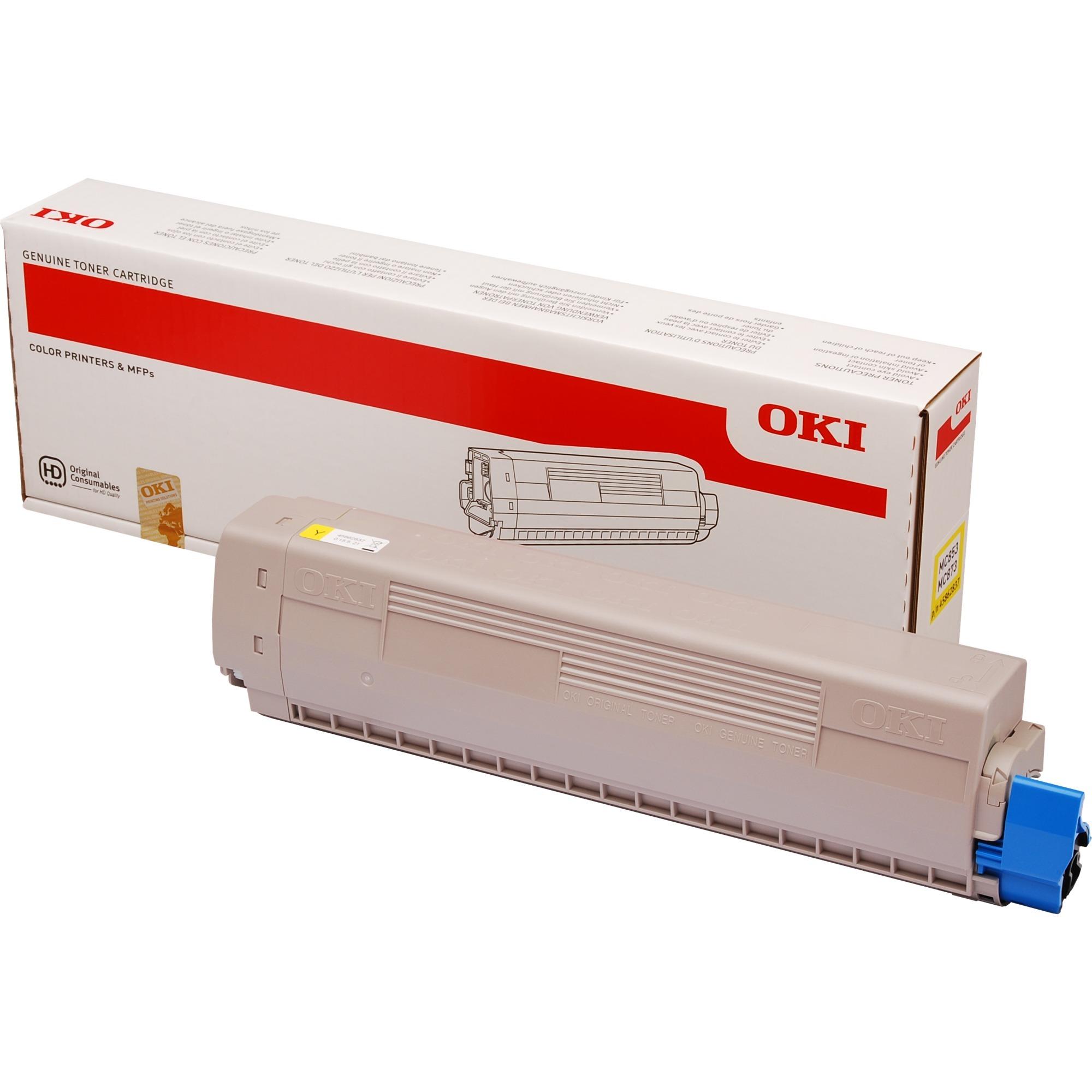 45862837 Toner laser 7300pages Jaune cartouche toner et laser