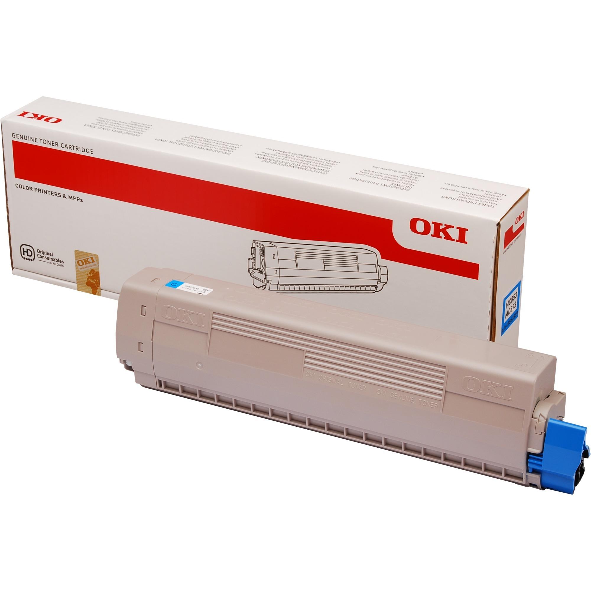 45862839 Toner laser 7300pages Cyan cartouche toner et laser
