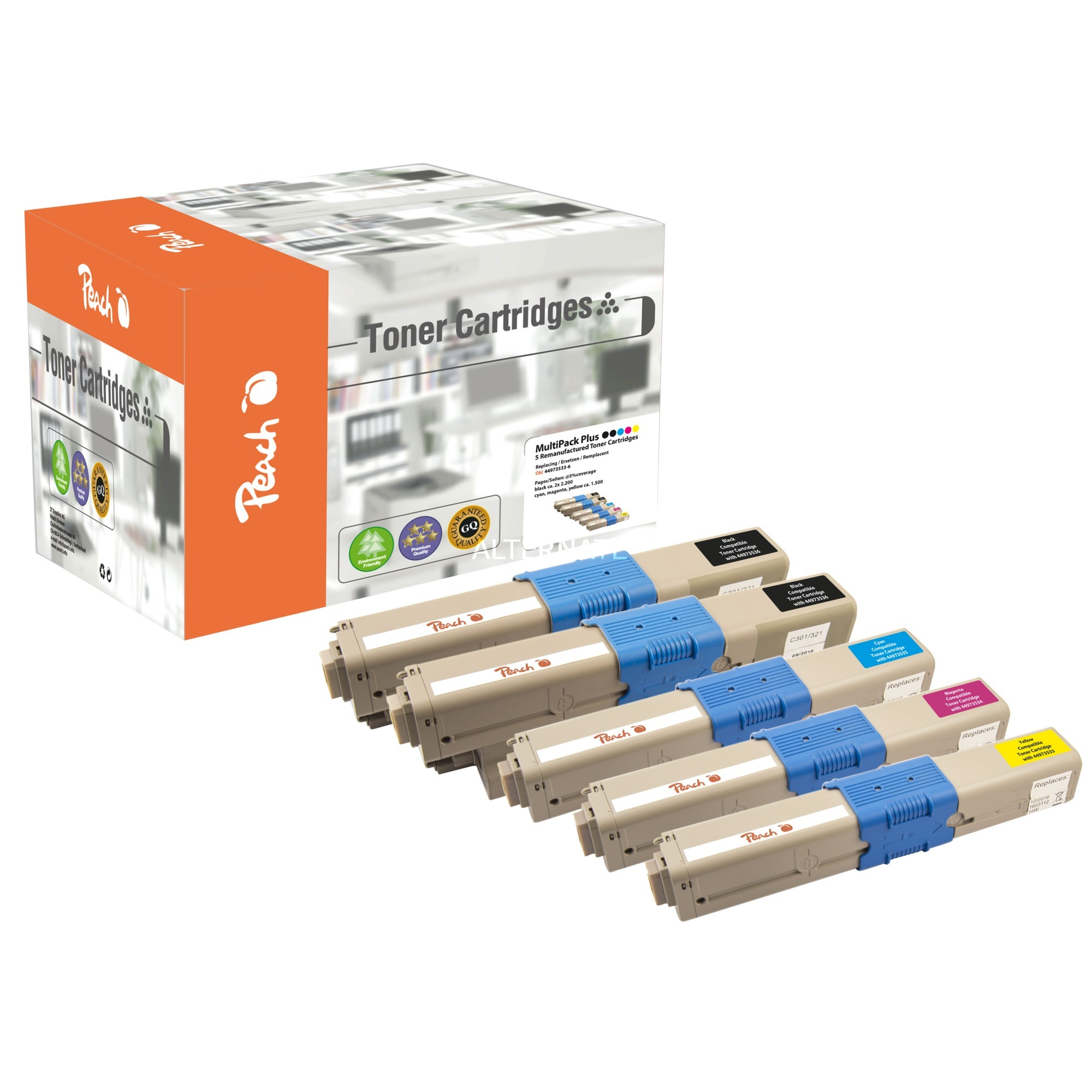 0F111911 Toner laser Noir, Jaune cartouche toner et laser