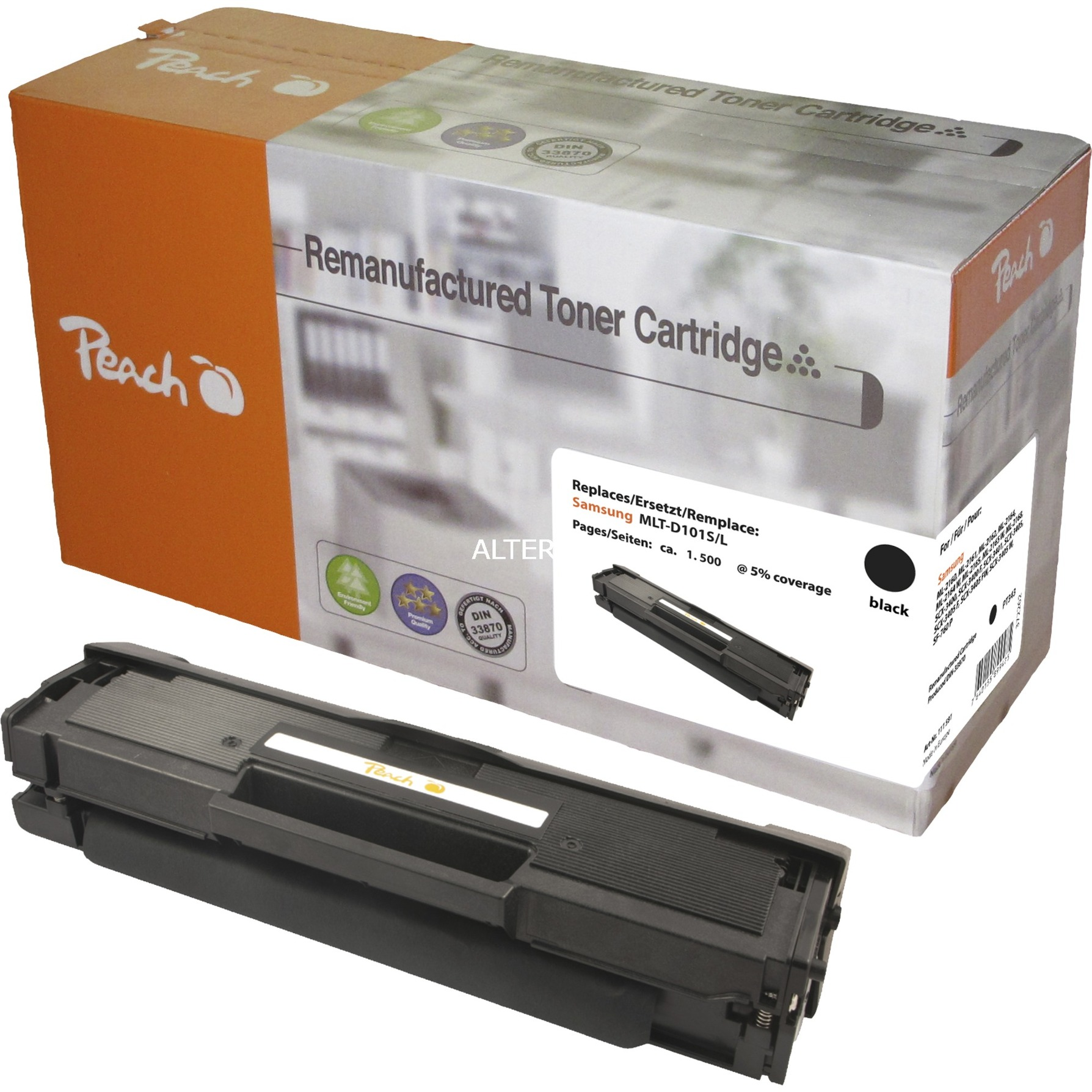 PT220 Cartouche laser 2500pages Noir cartouche toner et laser