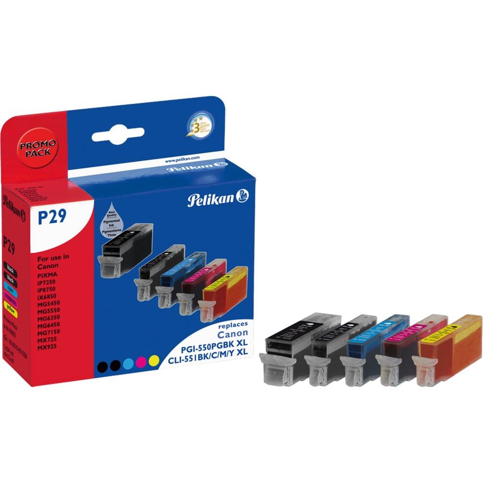 P29 BK CMY PGBK 12ml 24ml 644pages Noir, Cyan, Magenta, Pigment noir, Jaune cartouche d'encre
