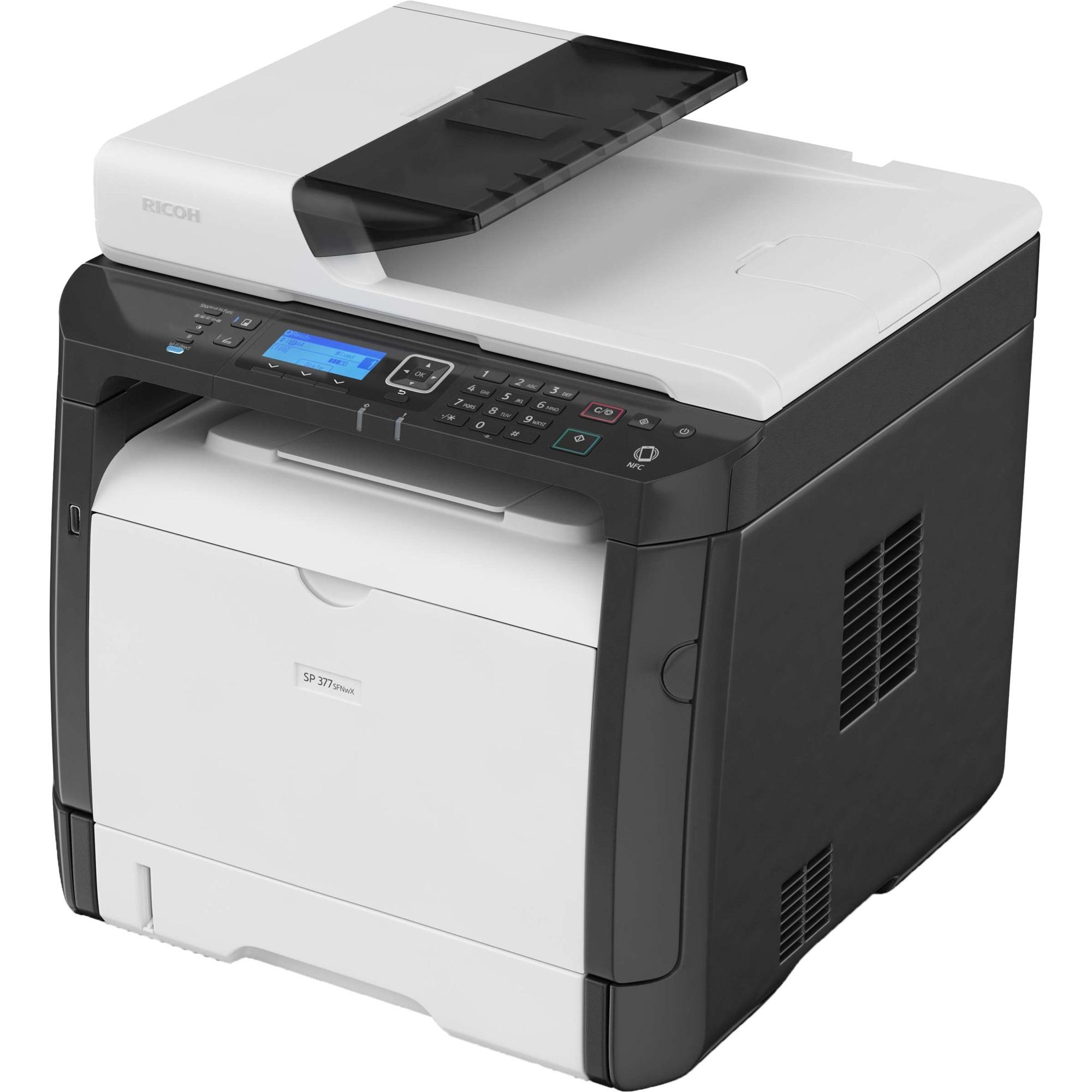 SP 377SFNwX 1200 x 1200DPI Laser A4 28ppm Wifi multifonctionnel, Imprimante multifonction