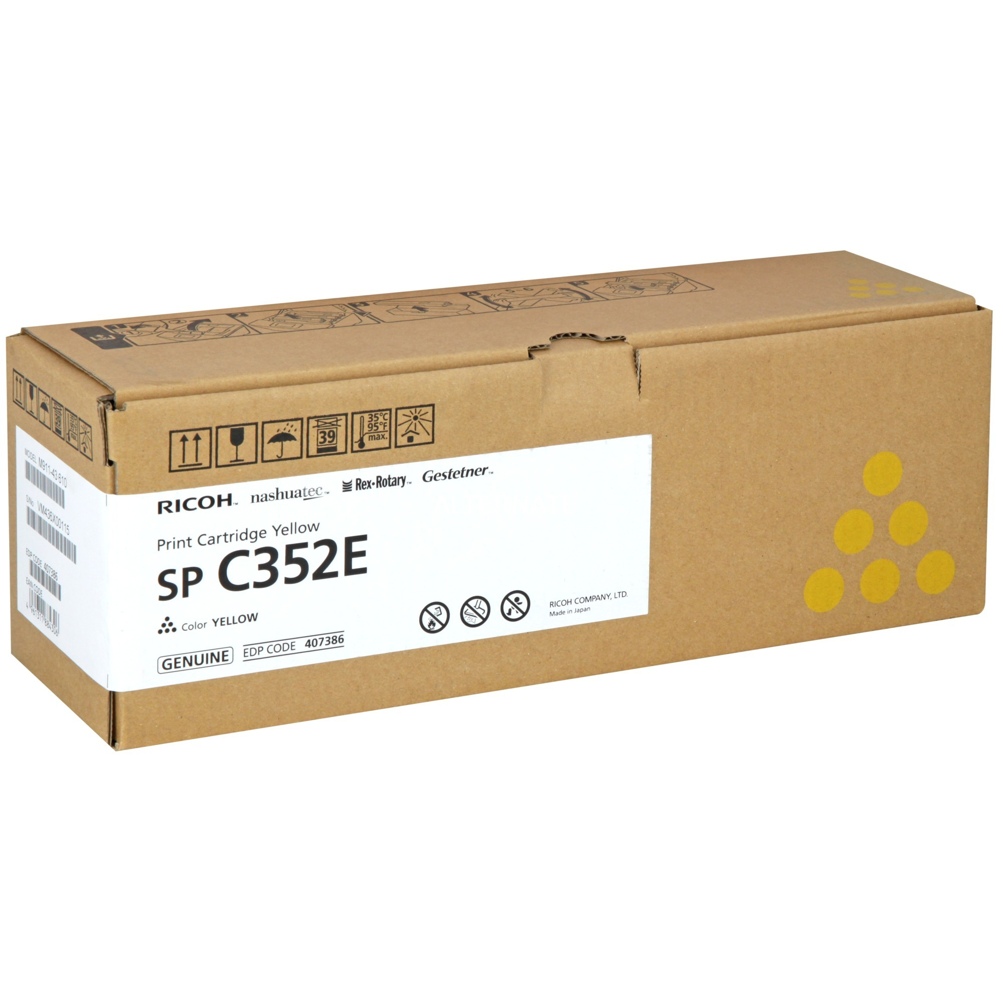 SP C352E Toner laser 6000pages Jaune
