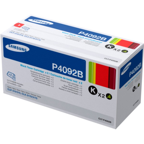 Samsung CLT-P4092B 2-pack Black Toner Cartridges