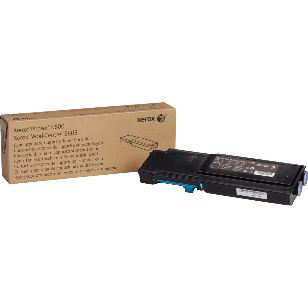 Cartouche de toner Cyan Phaser 6600/WorkCentre 6605 capacité standard (2 000 pages)