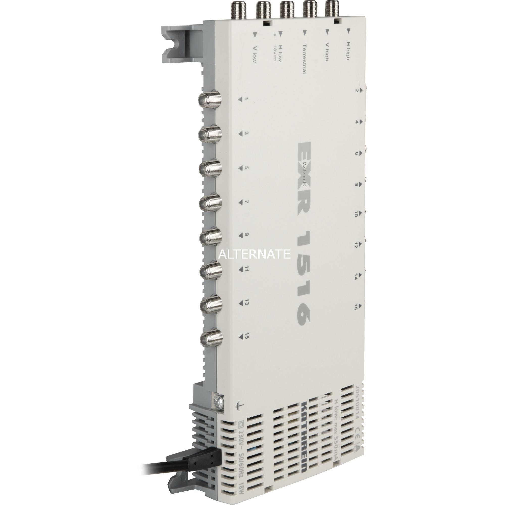 EXR 1516 Gris TV set-top boxe, Multi commutateur