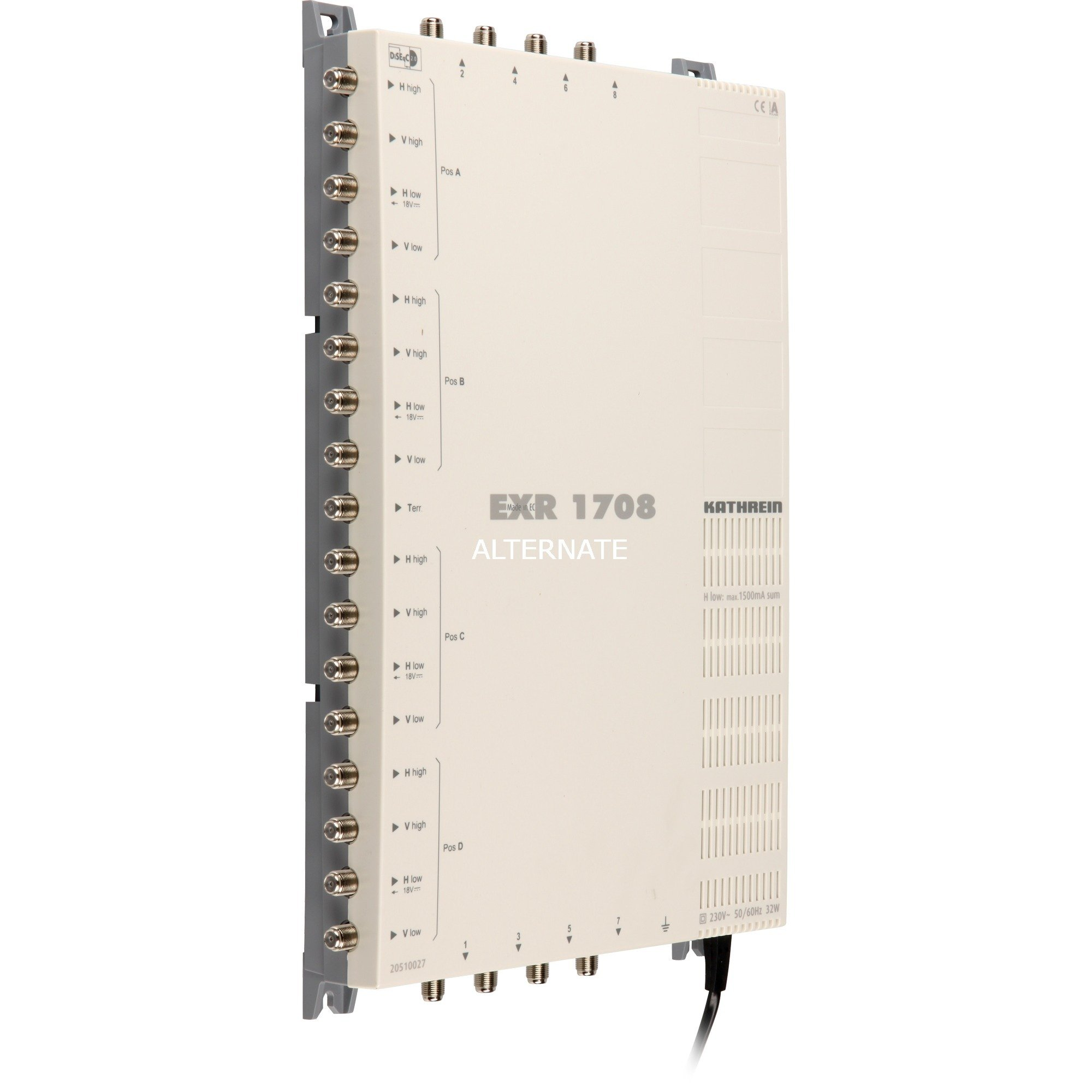 EXR 1542 5inputs 2outputs commutateur multiple satellite, Multi commutateur
