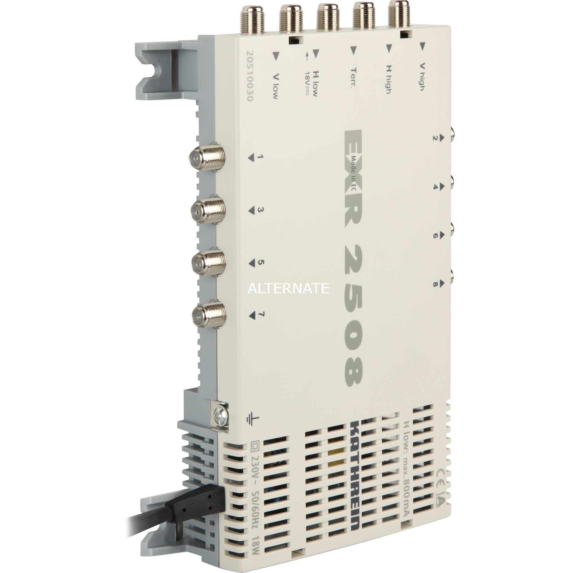 EXR 2508 5entrées 8sorties commutateur multiple satellite, Multi commutateur