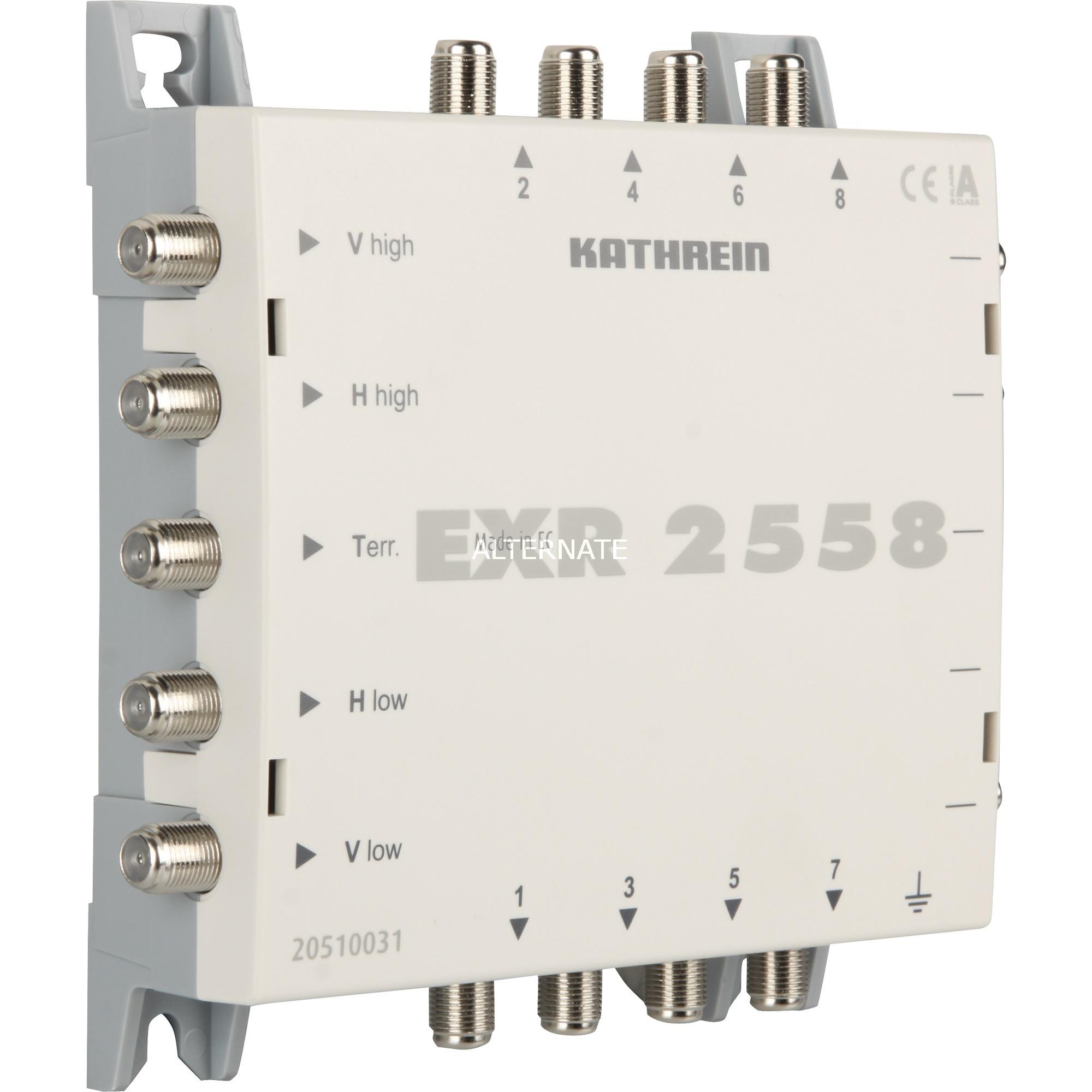 EXR 2558 5entrées 8sorties commutateur multiple satellite, Multi commutateur