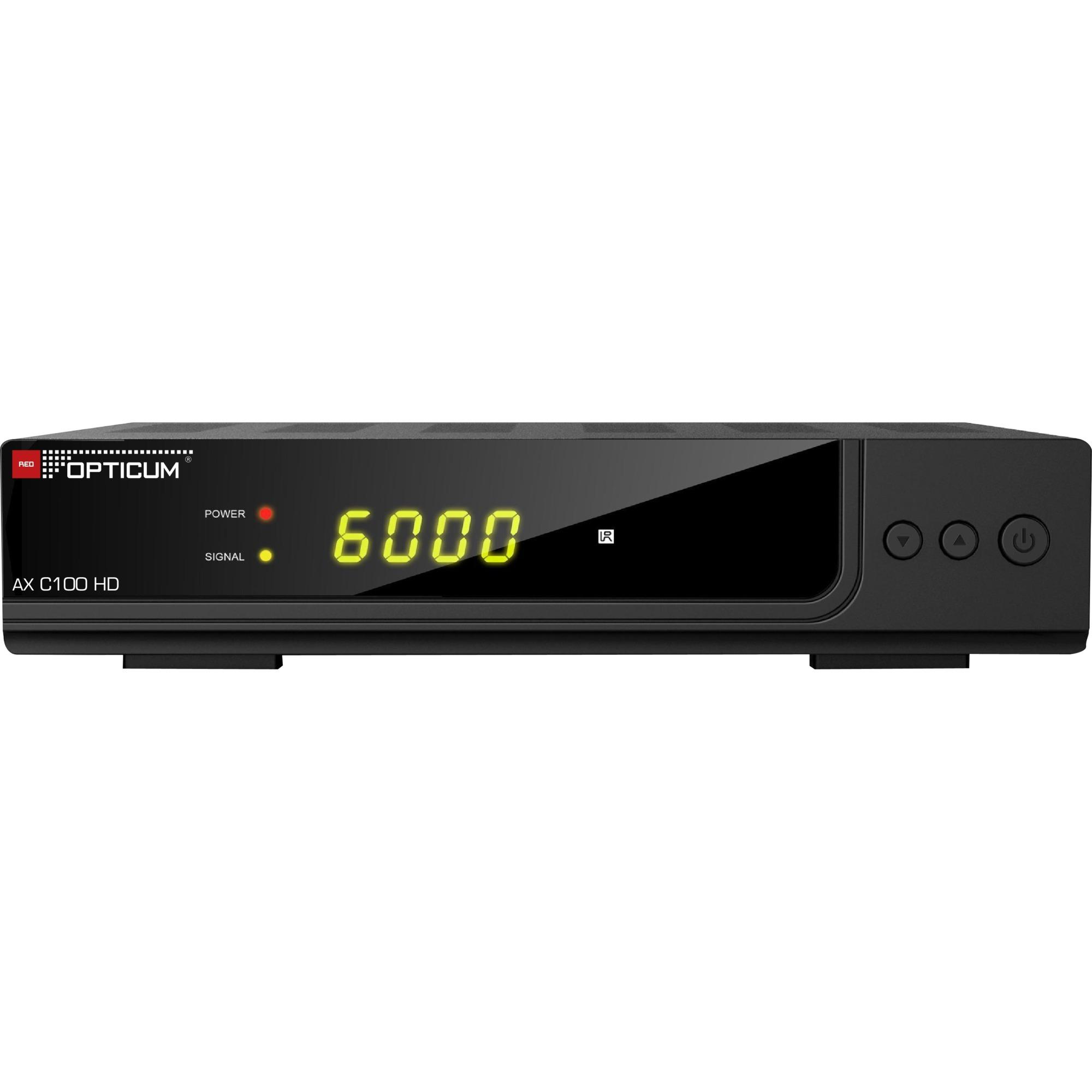 AX C100 HD Cable Full HD Noir TV set-top boxe, Récepteur câble