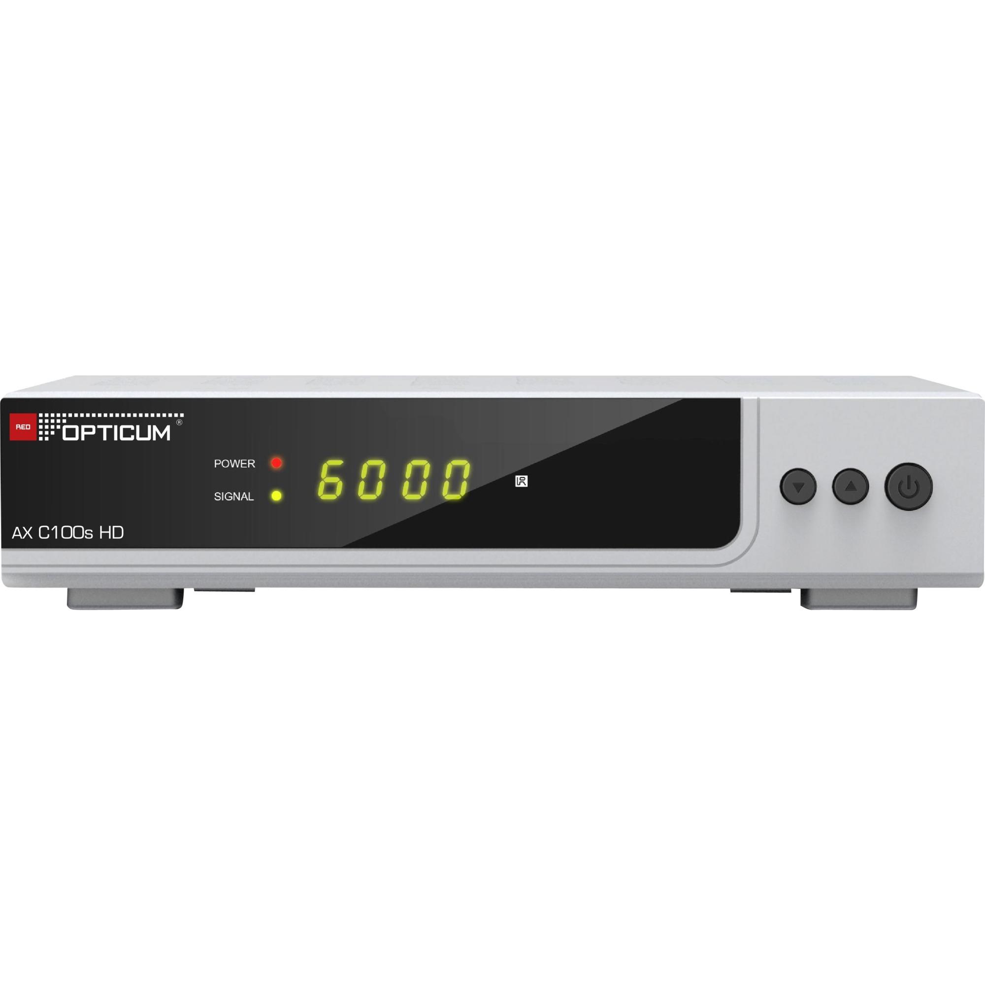 AX HD C100s Cable Full HD Argent TV set-top boxe, Récepteur câble
