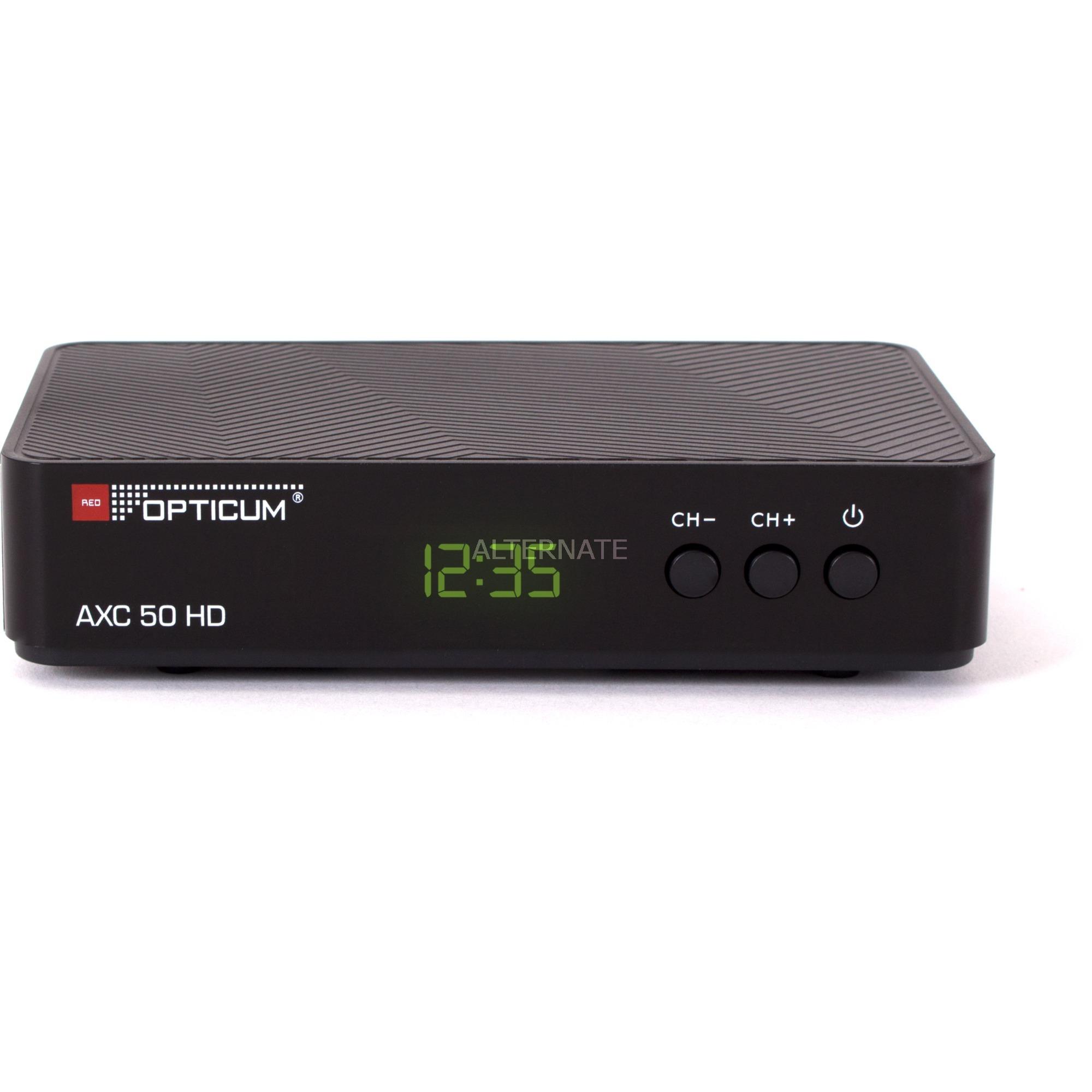 HD AX C50 Cable Full HD Noir TV set-top boxe, Récepteur câble