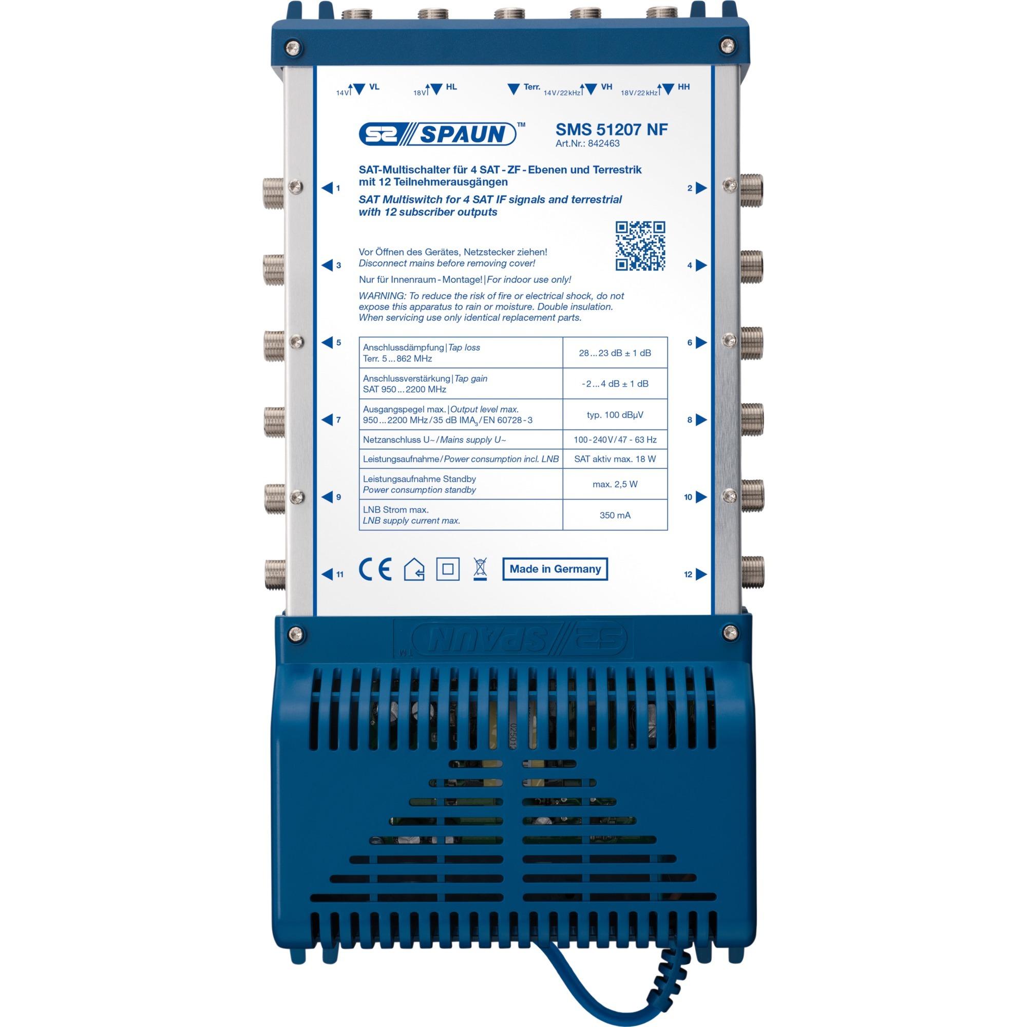 SMS 51207 NF commutateur vidéo, Multi commutateur
