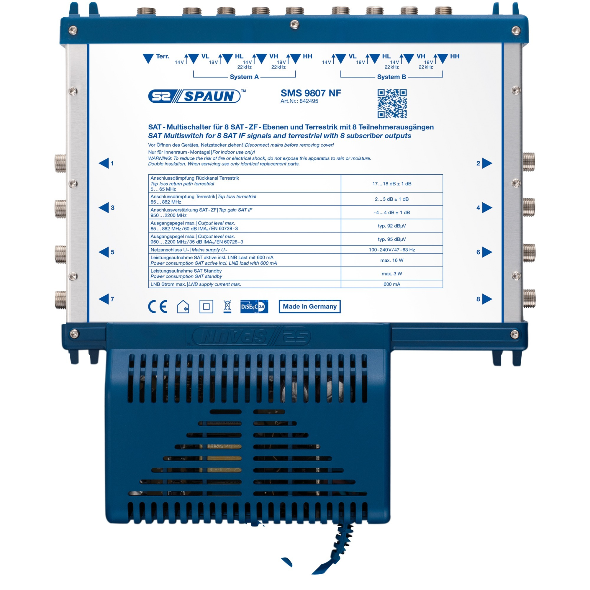 SMS 9807 NF commutateur vidéo, Multi commutateur