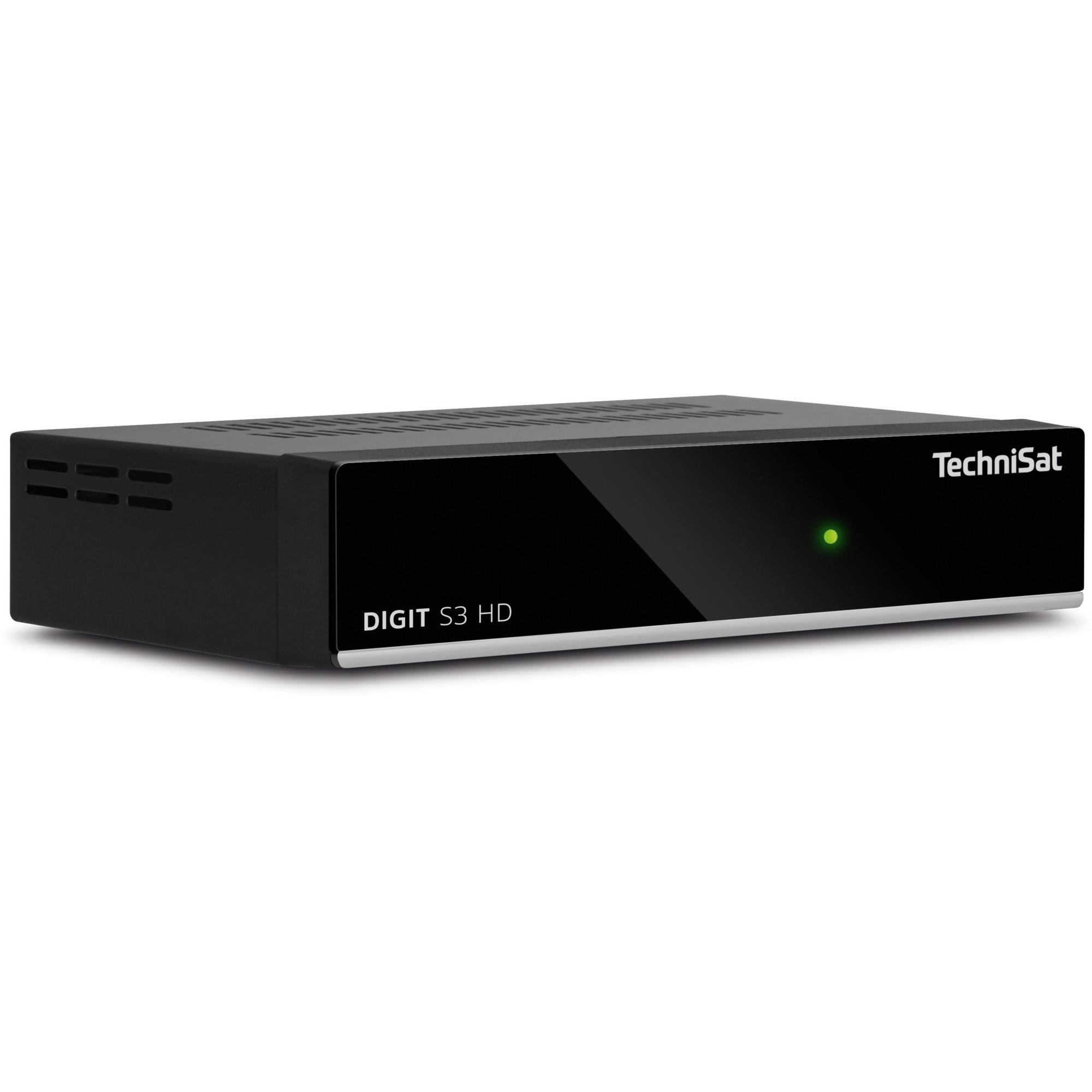 DIGIT S3 HD Satellite Full HD Noir TV set-top boxe, Récepteur satellite