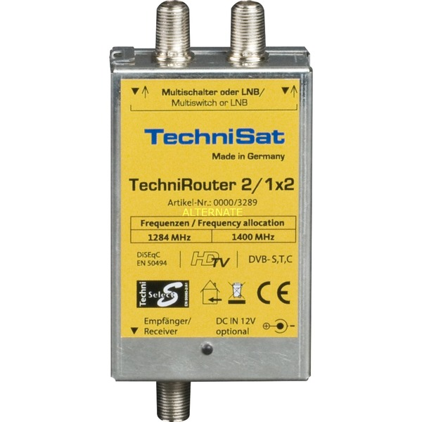 TechniRouter Mini 2/1x2 commutateur multiple satellite, Multi commutateur