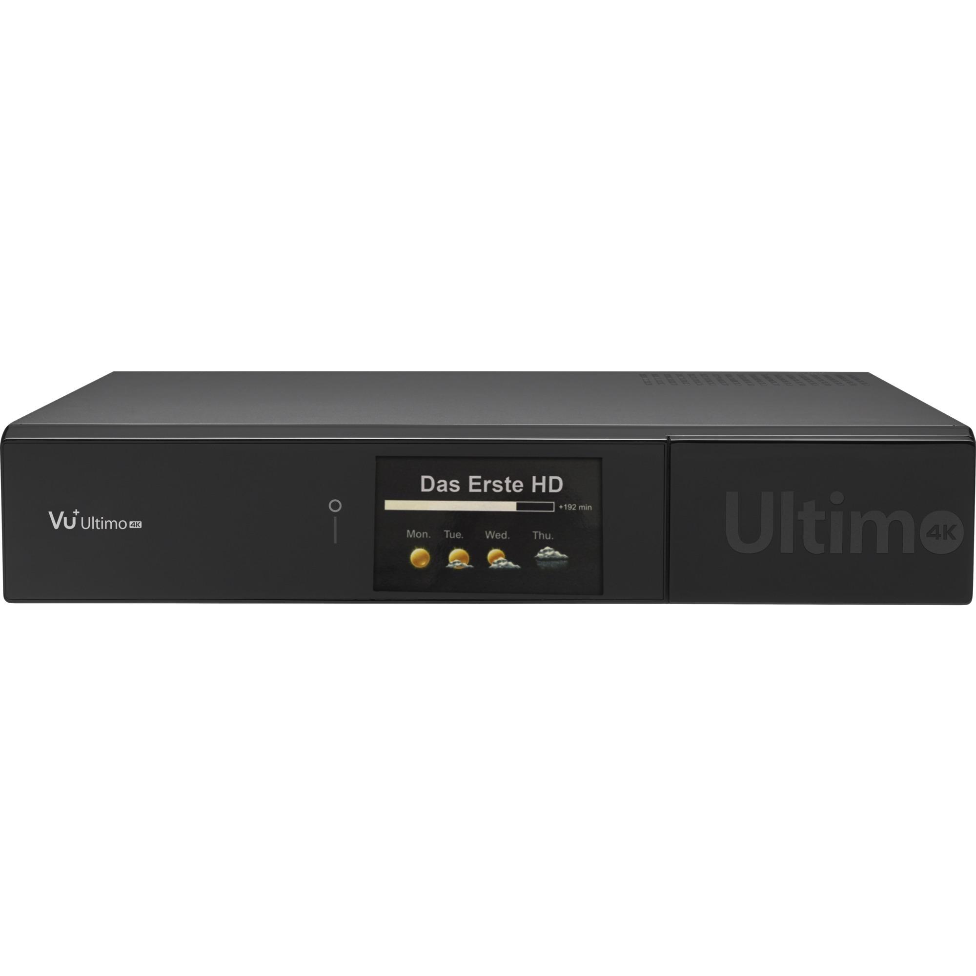 Ultimo 4K Satellite Full HD Noir TV set-top boxe, Récepteur satellite